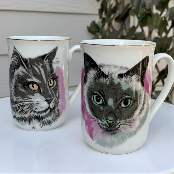 Vintage Cat Mug Coffee Tea Vtg Japan Siamese kitty